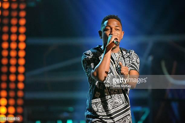 Kendrick Lamar performs onstage at the 2012 BET Hip Hop Awards at Boisfeuillet Jones Atlanta Civic Center on September 29, 2012 in Atlanta, Georgia.