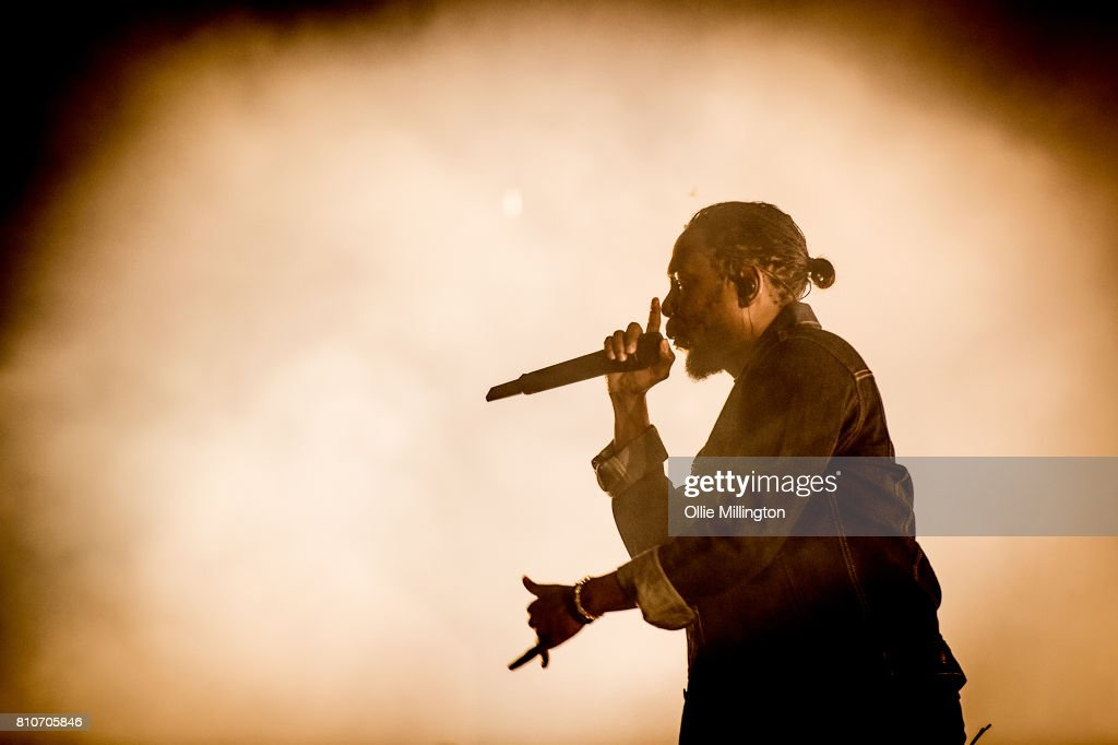 Kendrick Lamar performs onstage headlining Day 2 of the 50th Festival D'ete De Quebec on the main stage at the Plaines D'Abraham on July 7, 2017 in Quebec City, Canada.