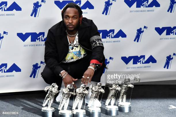 Kendrick Lamar, winner of Video of the Year, Best Hip Hop, Best Cinematography, Best Direction, Best Art Direction, Best Visual Effects for 'Humble',...