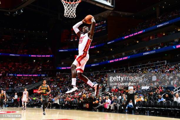 Kendrick Nunn of the Miami Heat dunks the ball against the Atlanta Hawks on October 31 2019 at State Farm Arena in Atlanta Georgia NOTE TO USER User...