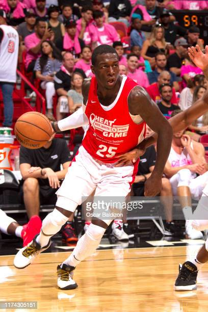 Kendrick Nunn of the Miami Heat handles the ball during a scrimmage on October 6 2019 at American Airlines Arena in Miami Florida NOTE TO USER User...