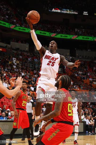 Kendrick Nunn of the Miami Heat shoots the ball against the Atlanta Hawks on October 29 2019 at American Airlines Arena in Miami Florida NOTE TO USER...