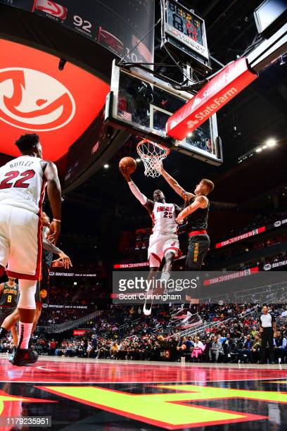 Kendrick Nunn of the Miami Heat shoots the ball against the Atlanta Hawks on October 31 2019 at State Farm Arena in Atlanta Georgia NOTE TO USER User...