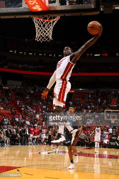 Kendrick Nunn of the Miami Heat shoots the ball against the Memphis Grizzlies on October 23 2019 at American Airlines Arena in Miami Florida NOTE TO...