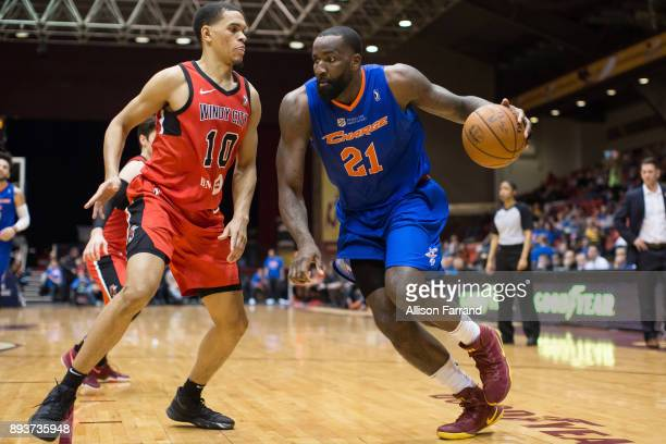 Kendrick Perkins of the Canton Charge handles the ball against the Windy City Bulls on December 15 2017 at the Canton Memorial Civic Center in Canton...