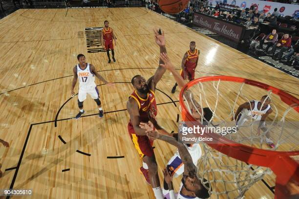 Kendrick Perkins of the Canton Charge shoots the ball against the Northern Arizona Suns during the GLeague Showcase on January 12 2018 at the Hershey...