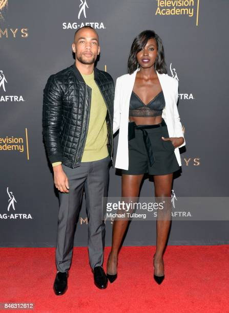 Kendrick Sampson and Anna Diop attend the Television Academy and SAGAFTRA's 5th annual Dynamic and Diverse Celebration at Saban Media Center on...