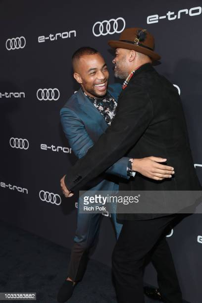 Kendrick Sampson and Anthony Hemingway attend the Audi preEmmy celebration at the La Peer Hotel in West Hollywood on Friday September 14 2018