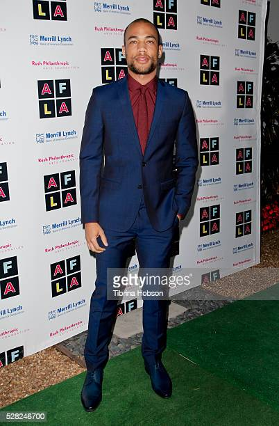 Kendrick Sampson attends Russell Simmons' Rush Philanthropic Arts Foundation's Inaugural Art For Life Celebration on May 3 2016 in West Hollywood...