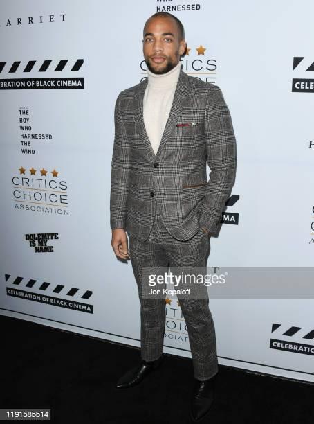 Kendrick Sampson attends The Critics Choice Association Presents Celebration Of Black Cinema at Landmark Annex on December 02 2019 in Los Angeles...