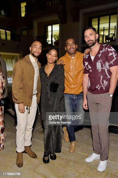 Kendrick Sampson Kilo Kish Jason Bolden and Warren Alfie Baker attend Barneys New York Jason Bolden and Sandra Sandor Celebrate Nanushka on October...