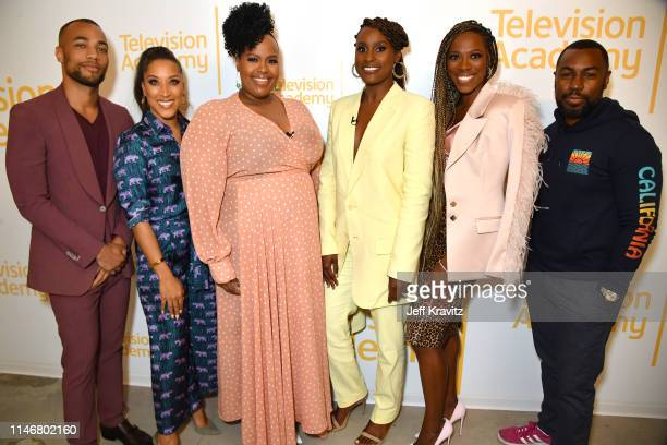 Kendrick Sampson Robin Thede Natasha Rothwell Issa Rae Yvonne Orji and Prentice Penny at the Insecure FYC at the Wolf Theater at Saban Media Center...