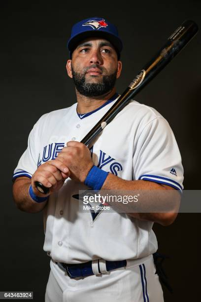 Kendrys Morales of the Toronto Blue Jays poses for a portait during a MLB photo day at Florida Auto Exchange Stadium on February 21 2017 in Dunedin...