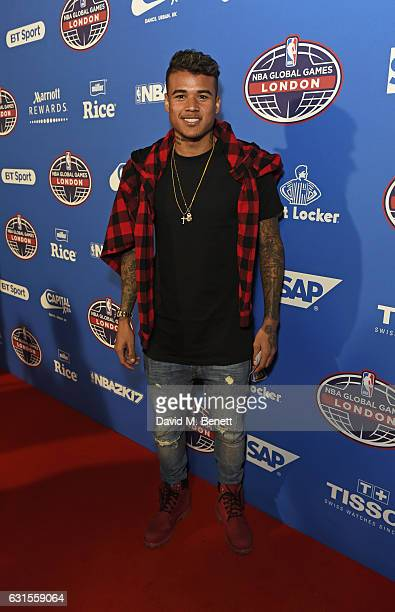 Kenedy attends the Denver Nuggets v Indiana Pacers game during NBA Global Games London 2017 at The O2 Arena on January 12 2017 in London England