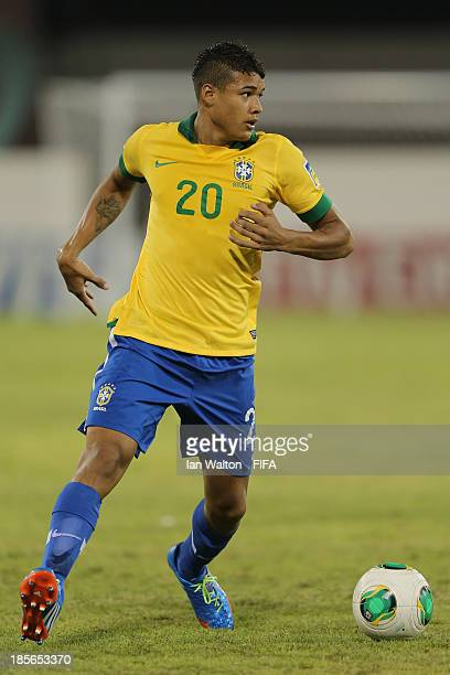 Kenedy of Brazil during the Group A FIFA U17 World Cup match between Honduras and Brazil at Ras Al Khaimah Stadium on October 23 2013 in Ras al...