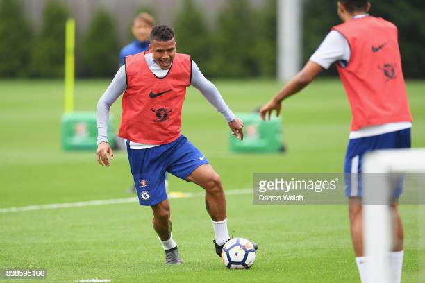 Kenedy of Chelsea at Chelsea Training Ground on August 24 2017 in Cobham England