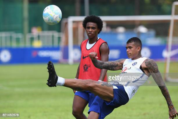 Kenedy of Chelsea during a training session at Singapore American School on July 24 2017 in Singapore