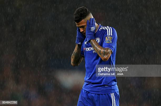 Kenedy of Chelsea during the Barclays Premier League match between Chelsea and West Bromwich Albion at Stamford Bridge on January 13 2016 in London...
