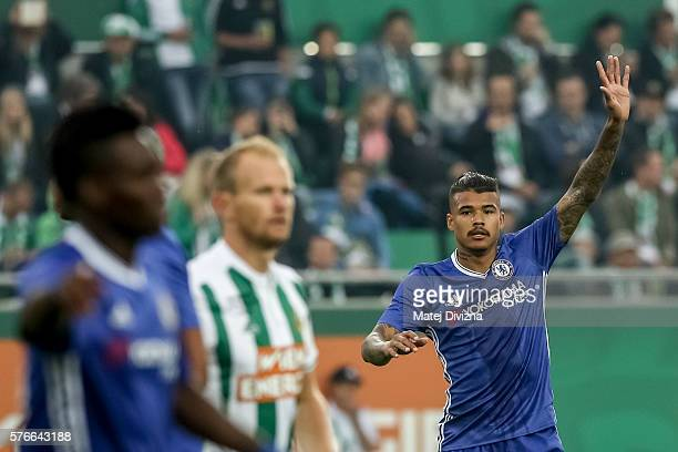 Kenedy of Chelsea in action during an friendly match between SK Rapid Vienna and Chelsea FC at Allianz Stadion on July 16 2016 in Vienna Austria