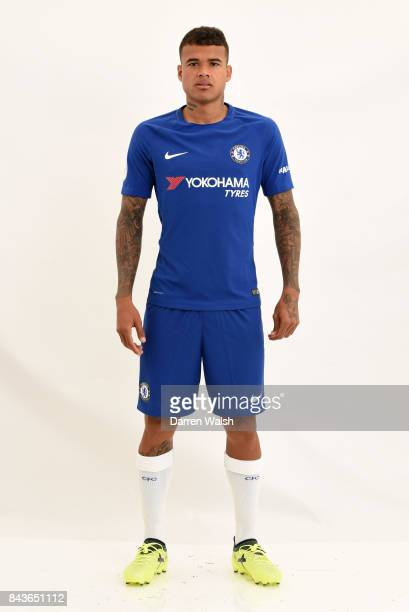 Kenedy of Chelsea poses during the Chelsea photo call at Chelsea Training Ground on August 8 2017 in Cobham England