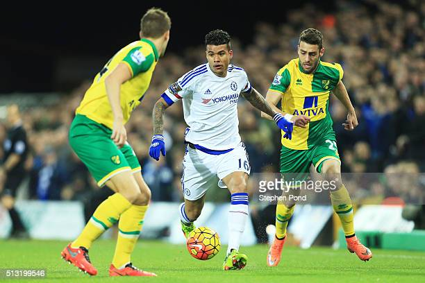 Kenedy of Chelsea runs with the ball during the Barclays Premier League match between Norwich City and Chelsea at Carrow Road on March 1 2016 in...