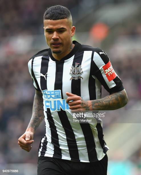 Kenedy of Newcastle United during the Premier League match between Newcastle United and Huddersfield Town at St James Park on March 31 2018 in...