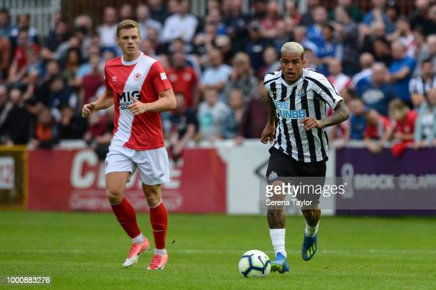 Kenedy of Newcastle United runs with the ball during the Pre Season Friendly match between StPatricks Athletic and Newcastle United at Richmond Park...