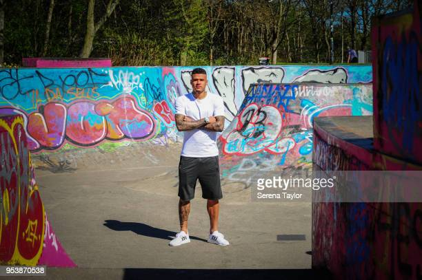 Kenedy poses for photos during a photoshoot at Exhibition Park on April 20 in Newcastle upon Tyne England