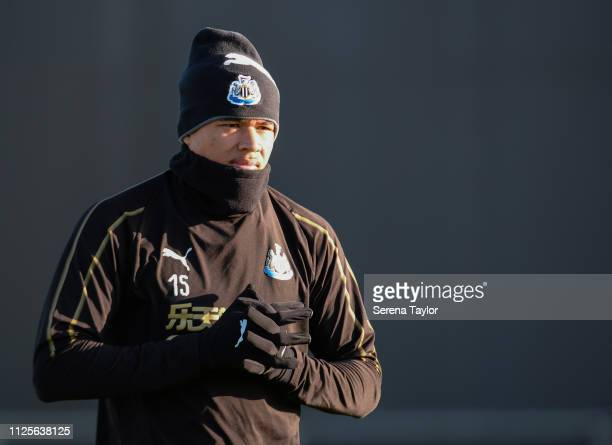 Kenedy walks outside during the Newcastle United Training Session at the Newcastle United Training Centre on January 28 2019 in Newcastle upon Tyne...