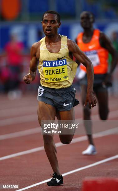 Kenenisa Bekele of Ethiopia competes in the men's 5000 metres during the IAAF Golden League Golden Gala track and field event held at the Stadio...
