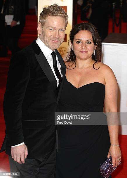 Keneth Branagh and his wife Lindsay Brunnock attend the Orange British Academy Film Awards at The Royal Opera House on February 12 2012 in London...