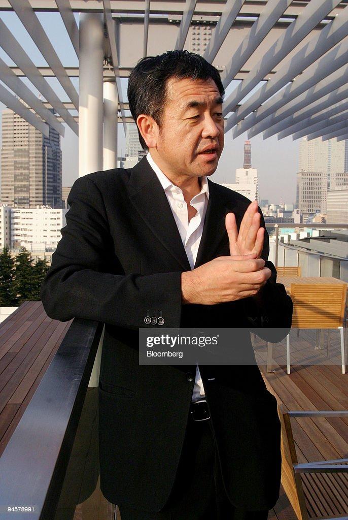 Kengo Kuma, Japanese architect and designer of the Suntory M : News Photo