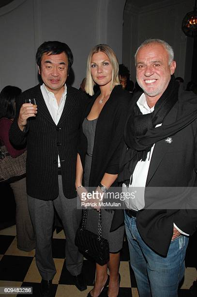 Kengo Kuma Marjorie Fritz and Dr Cem Kinay attend Dellis Cay NY launch party at Neue Gallerie NYC on January 23 2007