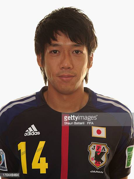 Kengo Nakamura of Japan poses for a portrait at the Kubistchek Plaza Hotel on June 13 2013 in Brasilia Brazil