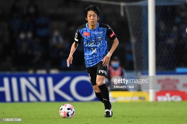 Kengo Nakamura of Kawasaki Fronale in action during the J.League Meiji Yasuda J1 match between Kawasaki Frontale and Nagoya Grampus at the Todoroki...