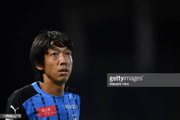 Kengo Nakamura of Kawasaki Fronale looks on during the J.League Meiji Yasuda J1 match between Kawasaki Frontale and Nagoya Grampus at the Todoroki...