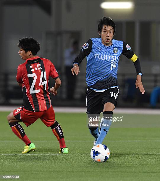 Kengo Nakamura of Kawasaki Frontale in action during the AFC Champions League Round of 16 match between Kawasaki Frontale and FC Seoul at Todoroki...
