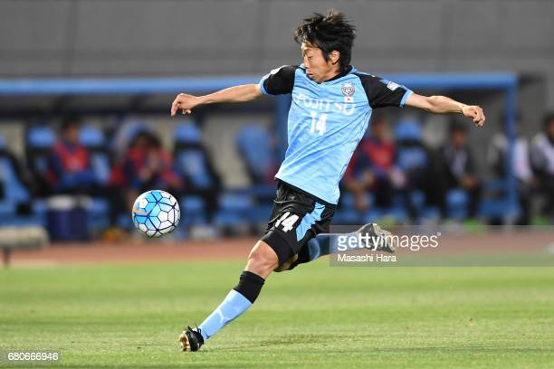 Kengo Nakamura of Kawasaki Frontale in action during the AFC Champions League Group G match between Kawasaki Frontale and Eastern SC at Kawasaki...