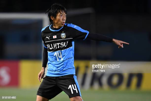Kengo Nakamura of Kawasaki Frontale in action during the AFC Champions League Group F match between Kawasaki Frontale and Shanghai SIPG at Todoroki...