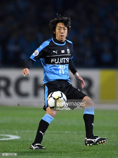 Kengo Nakamura of Kawasaki Frontale in action during the AFC Champions League Group F match between Kawasaki Frontale and Melbourne Victory at...