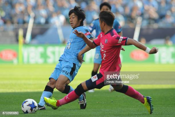Kengo Nakamura of Kawasaki Frontale in action during the JLeague Levain Cup final match between Cerezo Osaka and Kawasaki Frontale at Saitama Stadium...