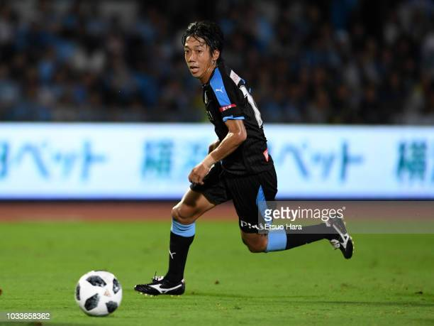Kengo Nakamura of Kawasaki Frontale in action during the JLeague J1 match between Kawasaki Frontale and Consadole Sapporo at Todoroki Stadium on...