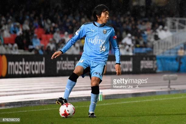Kengo Nakamura of Kawasaki Frontale in action during the JLeague J1 match between Kawasaki Frontale and Gamba Osaka at Todoroki Stadium on November...