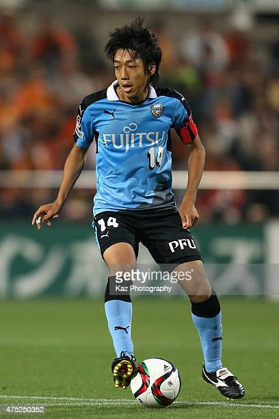 Kengo Nakamura of Kawasaki Frontale in action during the JLeague match between Shimizu SPulse and Kawasaki Frontale at IAI Stadium Nihondaira on May...
