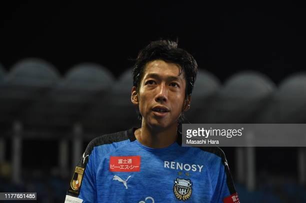 Kengo Nakamura of Kawasaki Frontale looks on after the JLeague J1 match between Kawasaki Frontale and Vissel Kobe at Todoroki Stadium on September 28...