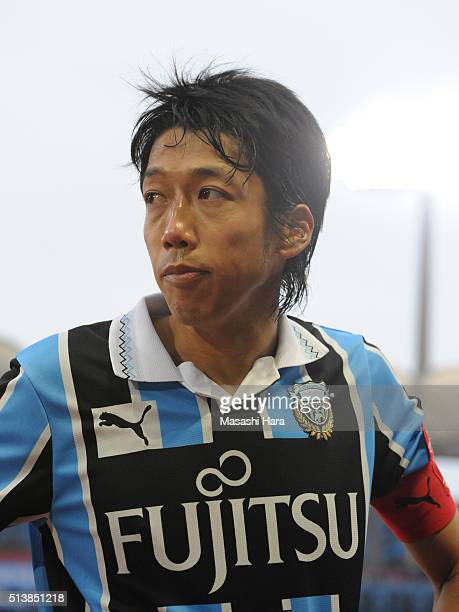 Kengo Nakamura of Kawasaki Frontale looks on after the JLeague match between Kawasaki Frontale and Shona Bellmare at the Todoroki Stadium on March 5...