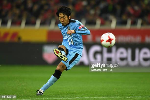 Kengo Nakamura of Kawasaki Frontale takes a free kick during the JLeague J1 match between Urawa Red Diamonds and Kawasaki Frontale at Saitama Stadium...