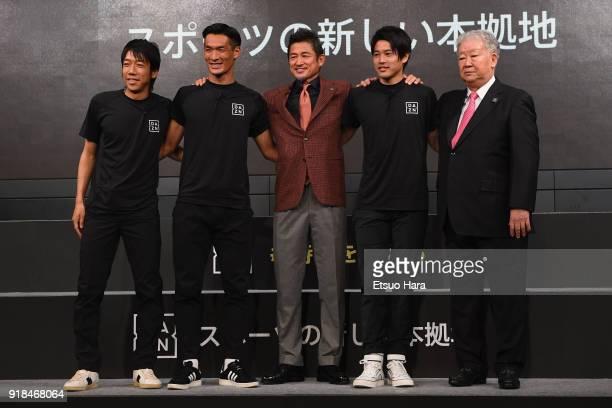 Kengo Nakamura of Kawasaki Frontale Tomoaki Makino of Urawa Red Diamonds Kazuyoshi Miura of Yokohama FC Atsuto Uchida of Kashima Antlers and former...