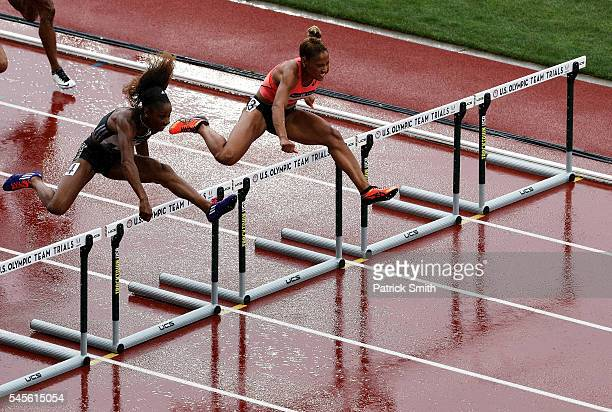 Keni Harrison competes in the Women's 100 Meter Hurdles SemiFinals during the 2016 US Olympic Track Field Team Trials at Hayward Field on July 8 2016...