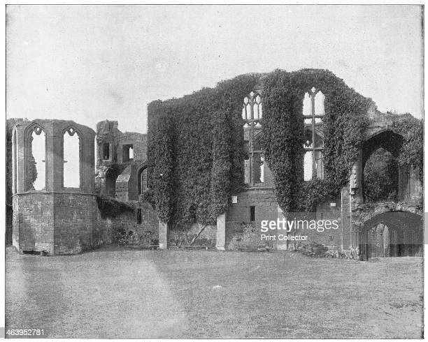 Kenilworth Castle England late 19th century Illustration from Portfolio of Photographs of Famous Scenes Cities and Paintings published by the Werner...